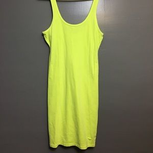 PINK neon yellow tank dress